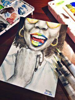 pridemonth watercolor myart pride2017 gaypride freetoedit