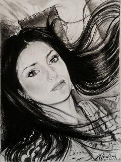 drawing pencil woman beautiful blackandwhite