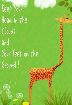 freetoedit giraffe clouds grounded kind