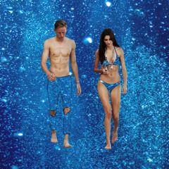 galaxy bikini couple