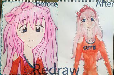 redraw redrawing watercolor watercolour beforeandafter