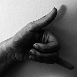 blackandwhite callme hand highcontrast symbolic