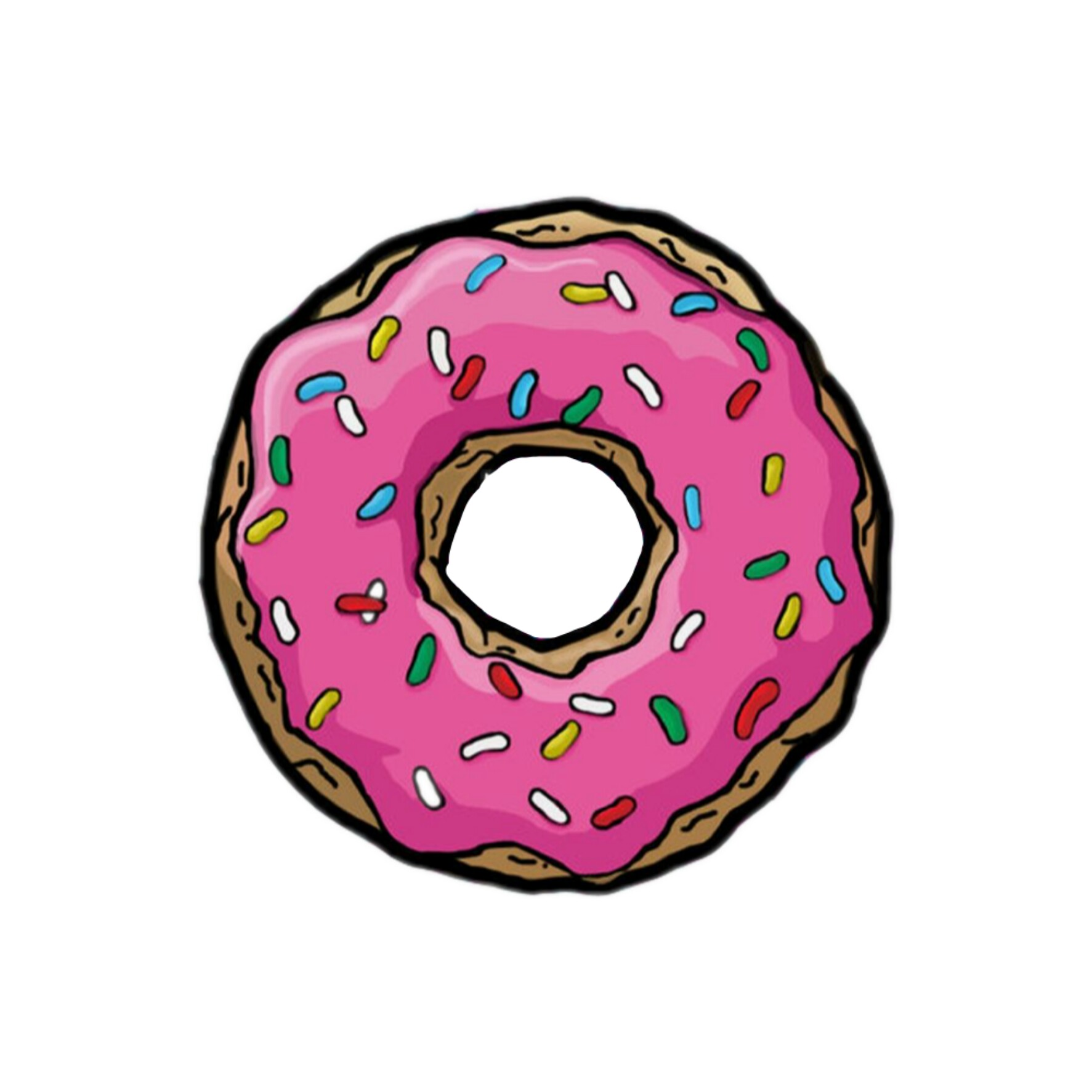 Картинки пончика с глазурью для срисовки