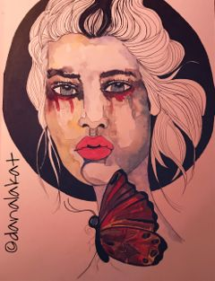 art drawing painting portrait watercolor