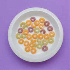 freetoedit flakes milk purple plate