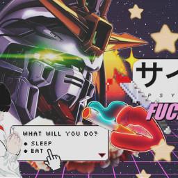 anime aesthetic fuckoff vaporwave pyscho freetoedit