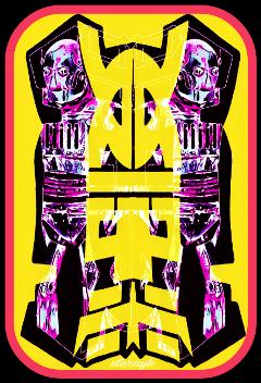 colorful popart retro vintage psychedelic