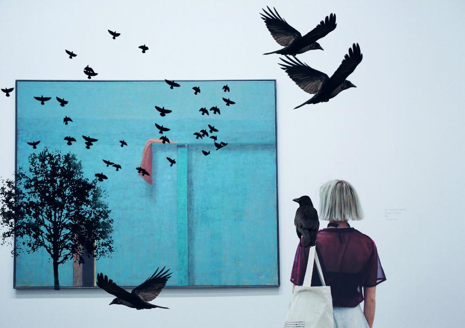 #freetoedit #birds #art #tree #person #artwork #madewithpicsart #dodgereffect #stickers #surreal #picsart #picsarttools