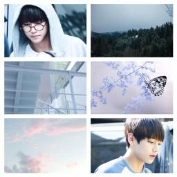 bts taehyung pastel blue v