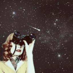 stargazing binoculars fallingstar comet space freetoedit