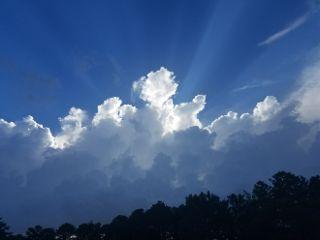 freetoedit sky clouds sunrays blue