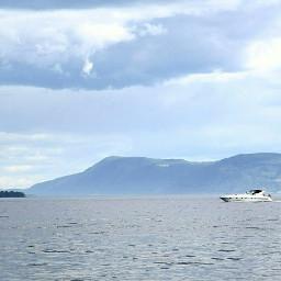 boat lake summer water