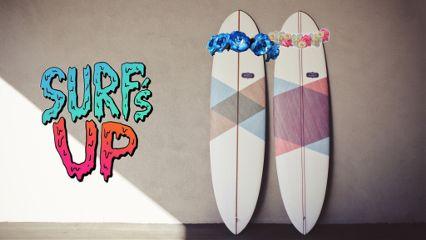 freetoedit surf flowercrown surfboard