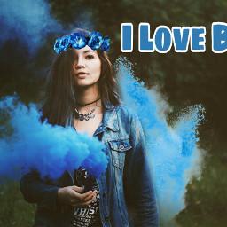 blue colorsplash