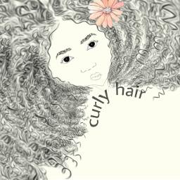 freetoedit curlyhair negra cabelocacheado flor