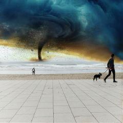 freetoedit storm typhoon beach danger