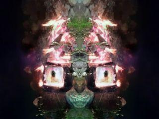 turnmesideways campfire mirrored photography distort freetoedit