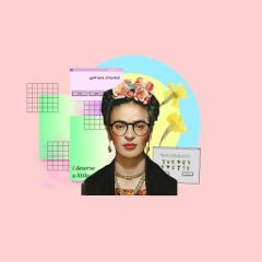 fridakahlo vaporwave frida art freetoedit
