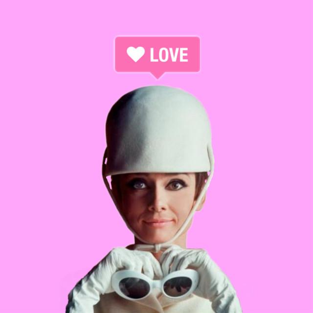 #myedit #creative #artistic #stickers #audreyhepburn #pink #retro #vintage #cool