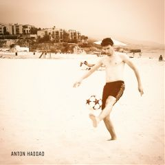 football beach blended landscape guy