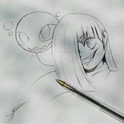 betty undertale glitchtale pen sketch