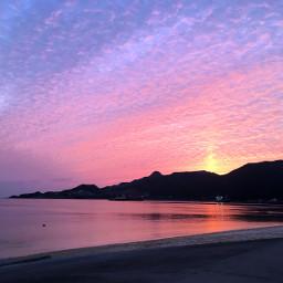 freetoedit sunset montain beach view