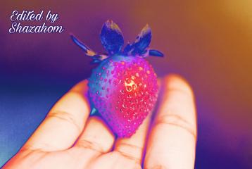 freetoedit shazahom1 strawberry effect thermal