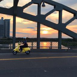 freetoedit vespa sunset bridge motion