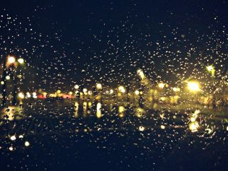 night lights raindrops