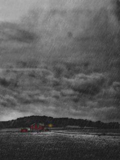 freetoedit rain nature house blackandwhite