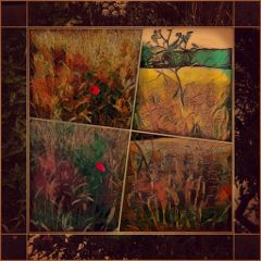 flowers willow trees pictureframe photograpy