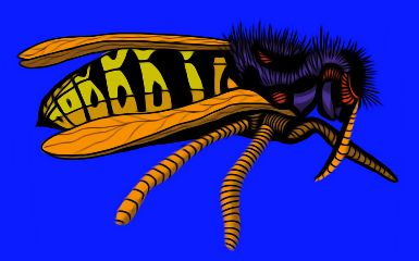 popart yellowjacket colorful freetoedit oilpaintingeffect