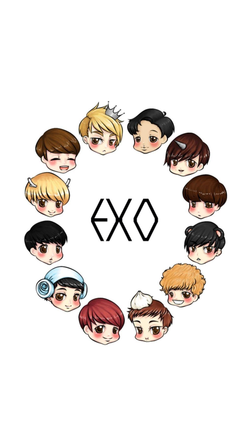 Exo Cute Cartoon Wallpaper