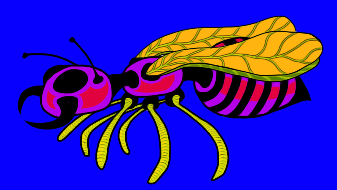Flying Ant  #drawing #popart #colorful #insect #freetoedit