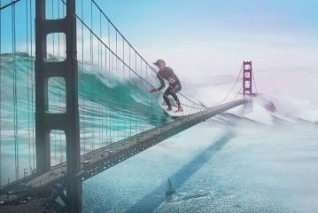 surfing water giant picsart surreal freetoedit