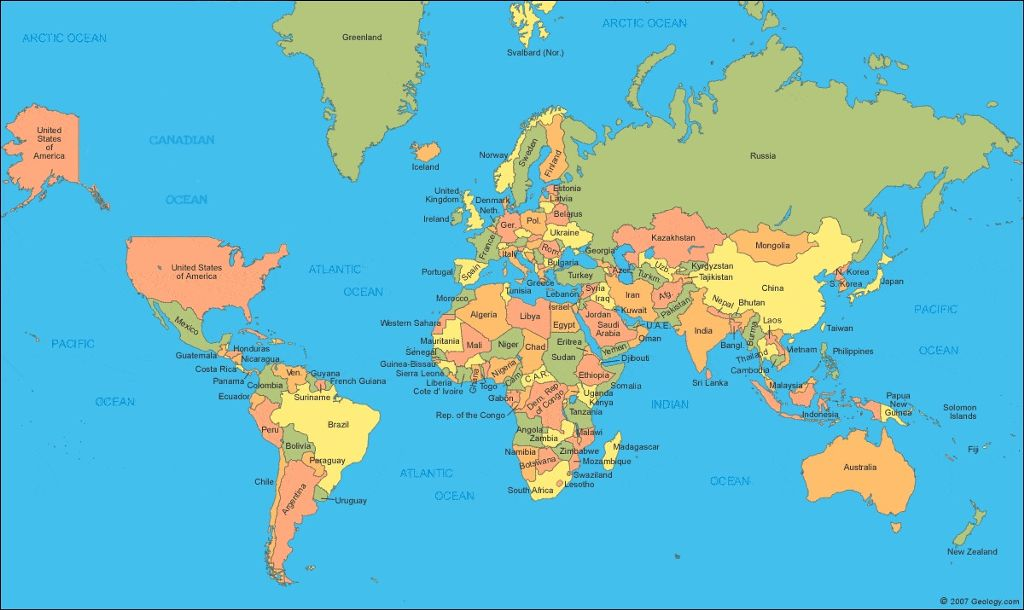 Canada is not real heres a map of the world without heres a map of the world without gumiabroncs Gallery