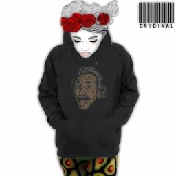 freetoedit sketchedgirl hoodie roses leggings