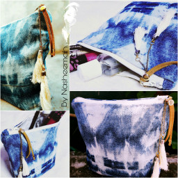 tiedye cosmetic pouch tassels mycreation