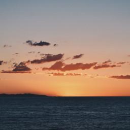 sunset sea interesting beautiful travel freetoedit