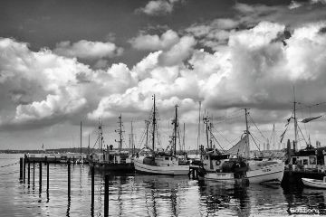 photography blackandwhite boat myphoto clouds