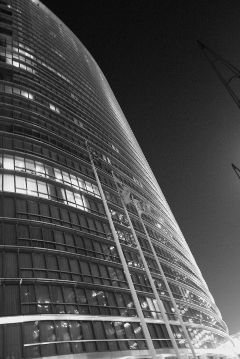 city hotel london blackandwhite night