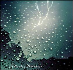 lightning storms thunderstorms rain raindrops