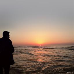 freetoedit sunrise thesea atlanticocean silhouette