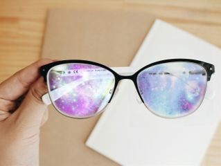 glasses spectacles lens glass galaxy freetoedit