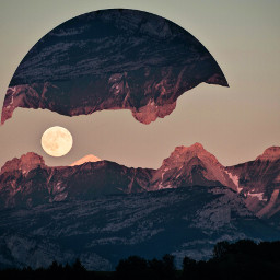 freetoedit remix moon mountain like circle new nationalmoonday