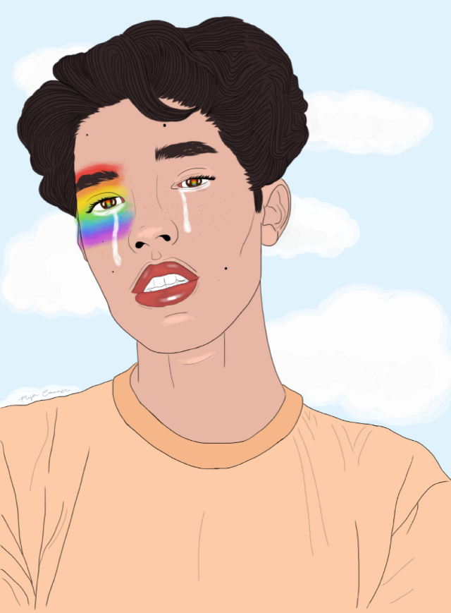 Conan gray #outline #rainbow #outlines