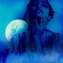 freetoedit doubleexposurecontest picsart moon moonphases
