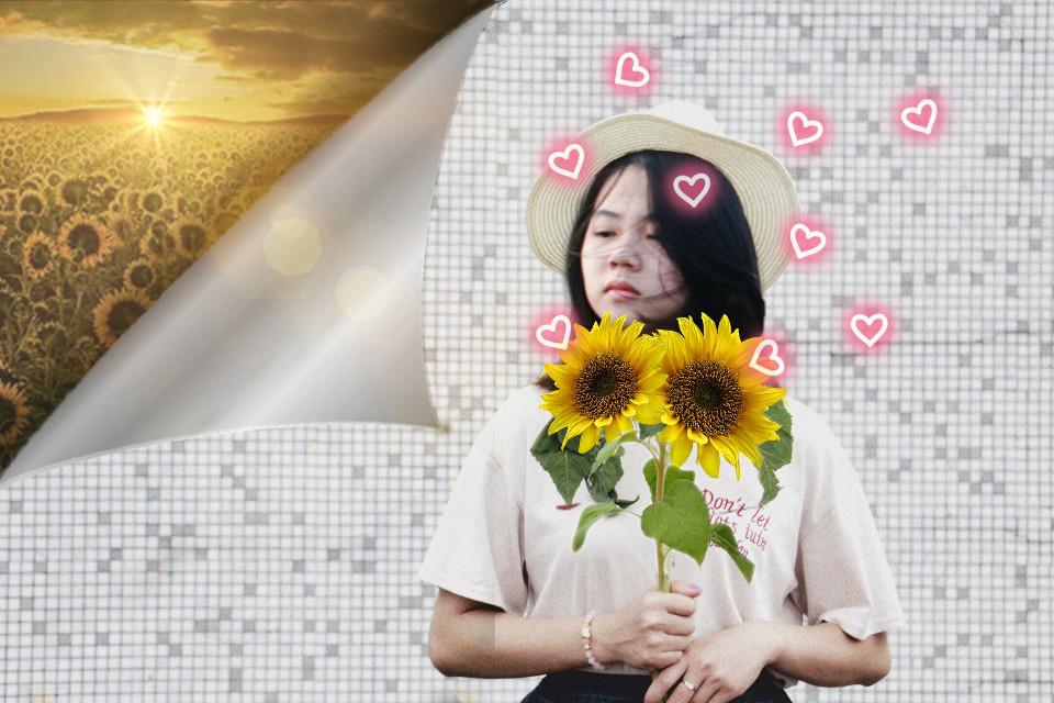 #neonheartsstickerremix #sunflowerremix
