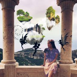 freetoedit fairies castle islands sparkle