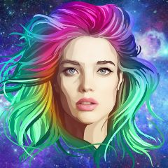 freetoedit natasupernova galaxy girl beautiful